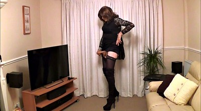 Crossdresser, Alison, Crossdressers, Butt plug