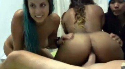 Three, Horny, Solo girl, Lucky guy