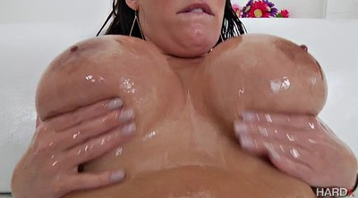 Oil, Angela white, Angela, Huge butt, White ass, Big white ass