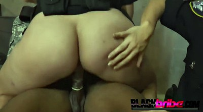 Prison, Cops, Female prisoner, Bbw threesome