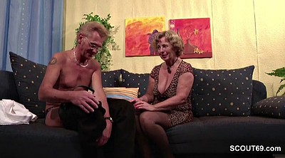 Casting mature, Old couple, German granny