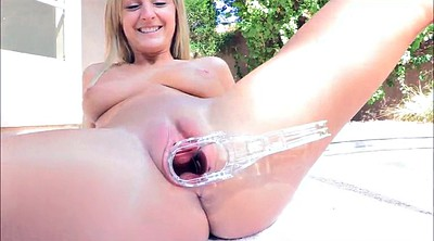 Blond pussy hair, Gyno, Speculum