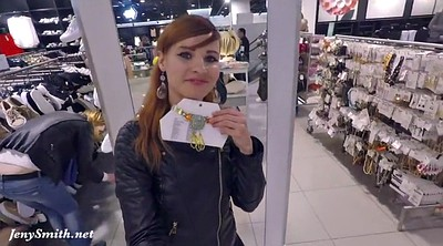 Shop, Shopping, Nylon pantyhose, Jeny smith, Public flash