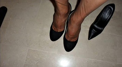 Nylon feet, Shoes, Nylons, Shoe, Nylon foot, Office nylon