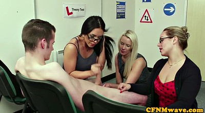 Cfnm, Group masturbation