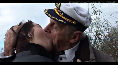 Old daddy, Mature kiss, Old kissing