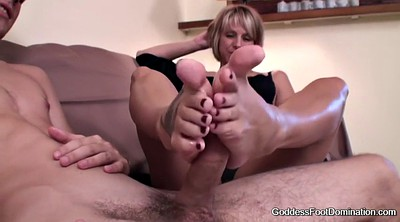Footjob, Hot babes, Footjob cumshot