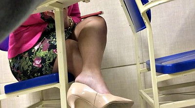 High heels, Candid, Tatoo, Shoeplay, Candid foot, Feet candid