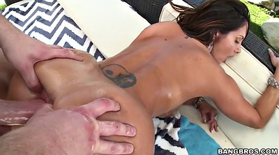 Ava addams, Huge cock, Gape, Oil, Big tits anal, Outdoor anal
