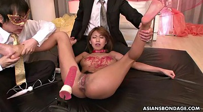 Gyno, Japanese office, Japanese bondage, Waxing, Wax, Dildo gagging