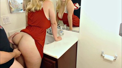 Bathroom, Bbw blonde
