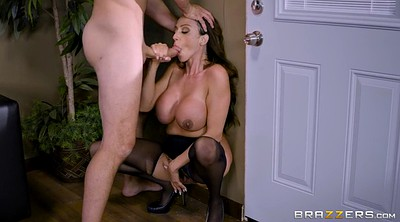 Office fuck, Standing, Busty mom