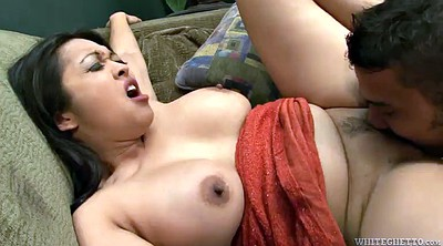 Pussy, Asian foot, Lick foot, Busty brunette