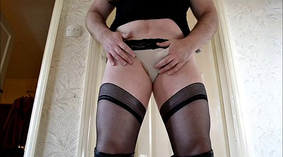 Pantyhose, Stockings, Boot, Stocking masturbation