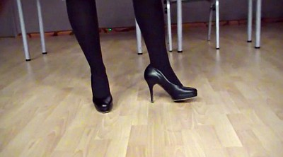 Heels, Voyeur, High heels, Leather, High