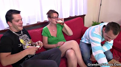 Young woman, Old mature, Old threesome
