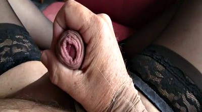 Stockings, Nylon handjob