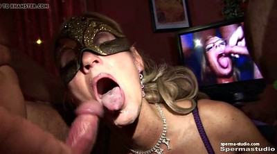 Cum in mouth, Gangbang creampie