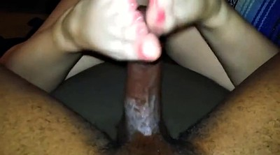 Footjob, Black, Ebony feet, Teens bbc