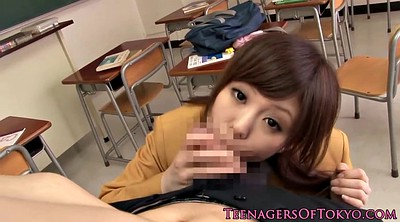 Handjob, Asian schoolgirl, Japanese teen, College, Japanese schoolgirl, Teen schoolgirl