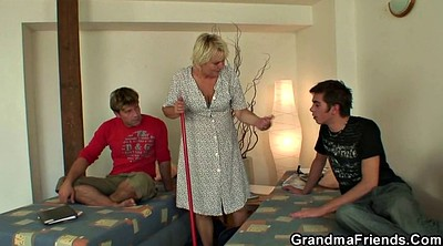 Old woman, Mature woman, Granny threesome