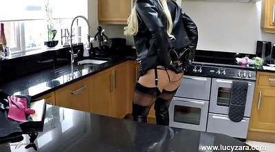 Leather, Panties, Milf boots