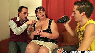 Fat granny, Old threesome, Fat old, Big fat tits