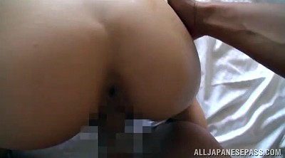 Asian, Licking hairy pussy