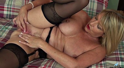 Old, Mature masturbation, British granny