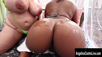 Oil, Angelina castro, Juggs, Oiled sex, Black oil