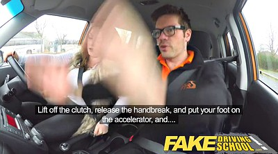 Fake tits, Wild, Fake driving school, Driving, Busty bbw, Driving school