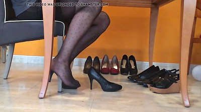 Nylon, Heels, Black pantyhose