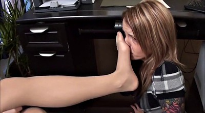 Foot, Smell, Lesbian foot, Smell foot, Pantyhose foot, Pantyhose lesbian