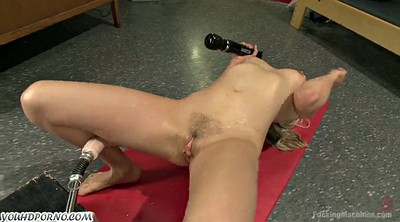 Young pussy, Fucking machines, Machines, Fast fuck, Blonde solo