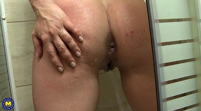 Mom, Saggy, Saggy tits, Mom with, Big saggy, Shower mom