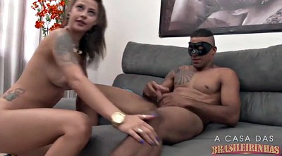 Throat, Brazil, Latina threesome