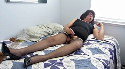 Cock, Nylon masturbation, Gay sissy, Mad, Bobbi