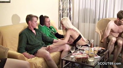 German, Teen gangbang