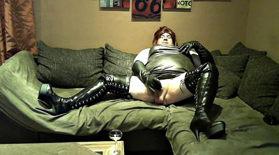 Boots, Leather, Dress, Stroke, German masturbation, Gay boots