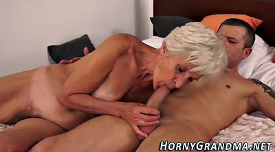 Grandmother, Cum in mouth, Mouth