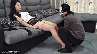 Asian solo, Barefoot, Hot, Blindfolded