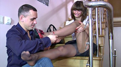 Pantyhose, Russian milf, Milf feet, Pantyhose foot, Foot job, Feet licking