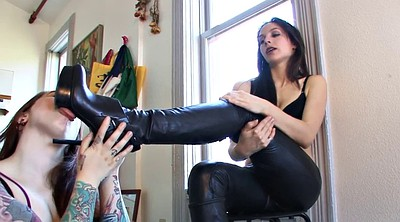 Boot, Lesbian foot, Pants, Leather pants