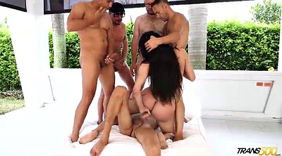 Transsexual, Shemale threesome, Shemale gangbang