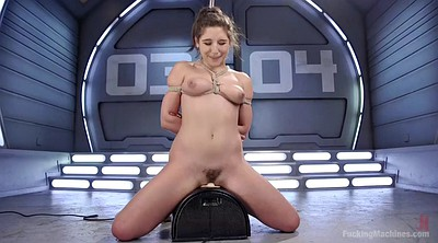 Solo orgasm, Sybian, Tied sex, Tied and fucked, Fucking machines