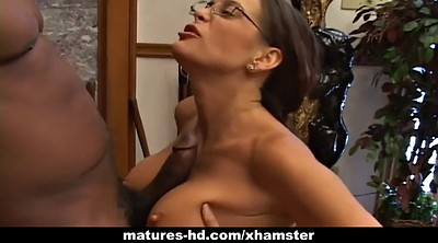 Mature interracial, Hunter, Dry, Milf pornstar, Cock milking, Bbc mature