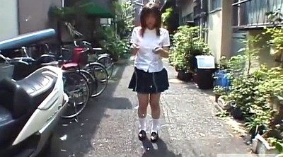 Subtitles, Japanese schoolgirl, Asian schoolgirl, Rope, Jump rope, Japanese uniform
