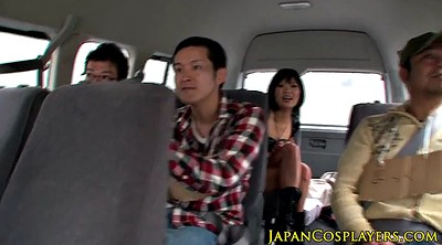 Japanese cosplay, Caught, Japanese group sex, Car sex