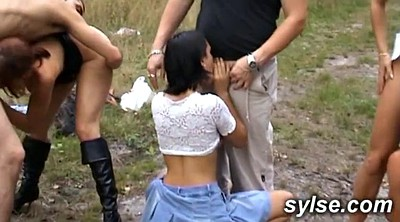 Mature gangbang, Forest, Dog sex, Doggy style, Outdoor mature, Mature outdoor