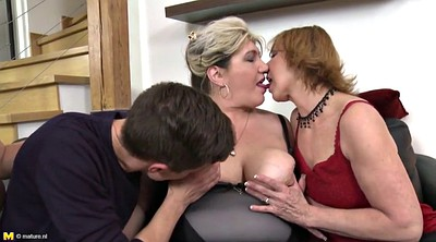 Mother, Group, Mother son, Young old, Granny group, Mature milf